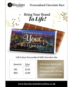 Branded Choc Bars - Corporate from £3.00