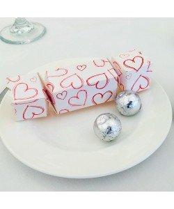 Hearts Cracker Favour Box
