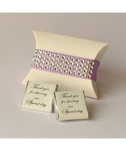 Glitzy Pillow Favour - Lilac