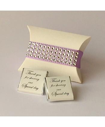 Glitzy Pillow Favour - Lilac