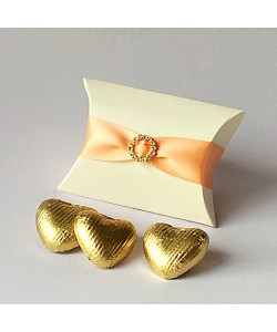 Peach Pillow Diamanté Favours
