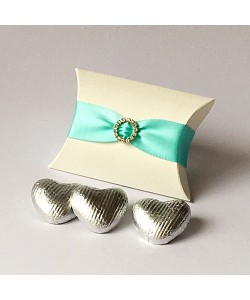 Pillow Diamanté - Aqua