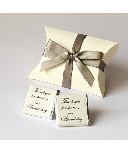 Silver Bow Pillow Favours