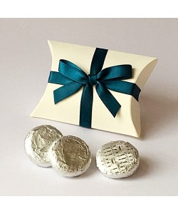 Teal Bow Pillow Favours