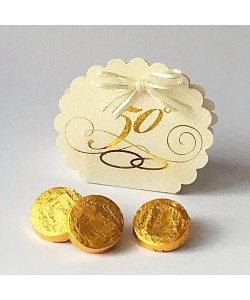 Anniversary Favour Box - Gold