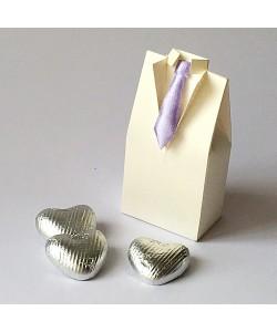 Satin Tie Tuxedo - Lilac