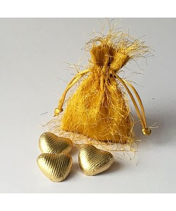 Fringed Pouch - Gold