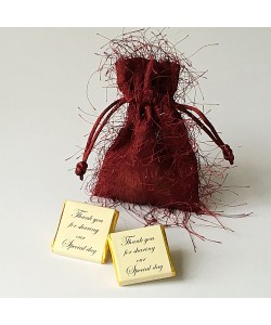 Fringed Pouch - Burgundy