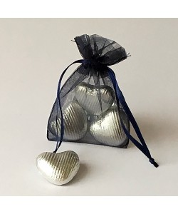 Organza Bag - Navy Blue
