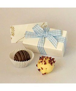 2 Chocolate Gingham Boxes