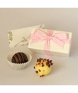 2 Choc Gingham Boxes