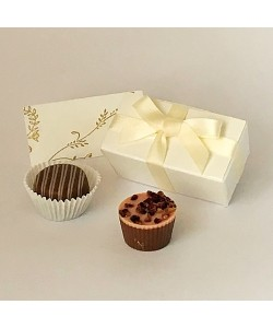 2 Choc Bow - Cream