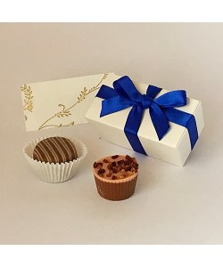 2  Choc Bow - Royal Blue