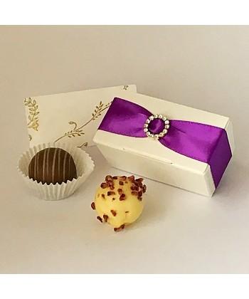 2 Choc Diamante - Purple