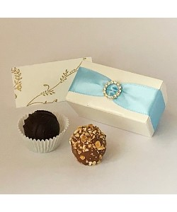 2 Choc Diamanté - Sky Blue
