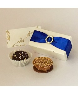 2 Choc Diamante - Royal Blue