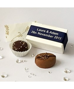 2 Choc Personalised - Navy Blue