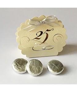 Anniversary Favour Box - Silver