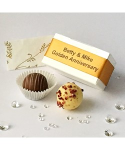 2 Choc Personalised - Old Gold
