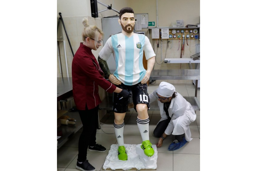 Messi Chocolate Sculpture
